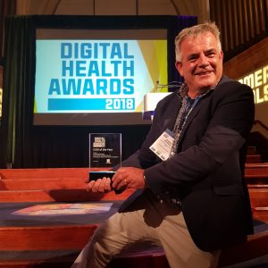 Dr Mark Westwood, winner of the Chief Clinical Information Officer at the Digital Health Awards