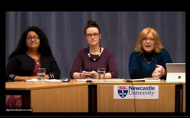 Image of university staff presenting online seminar