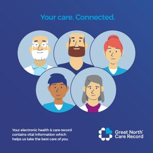 Great North Care Record - health and care staff image